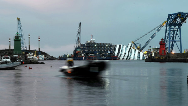 Costa Concordia now. Picture by AFP