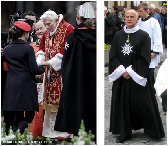 Мальтийцы на приеме у Папы.  / / Рыцарь чести и преданности в соответствующем костюме