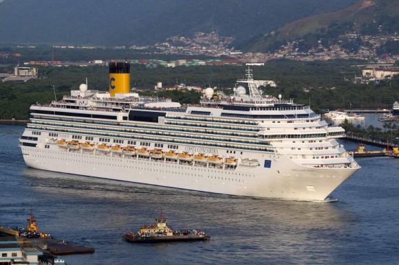 Cruise liner Costa Concordia before the shipwreck