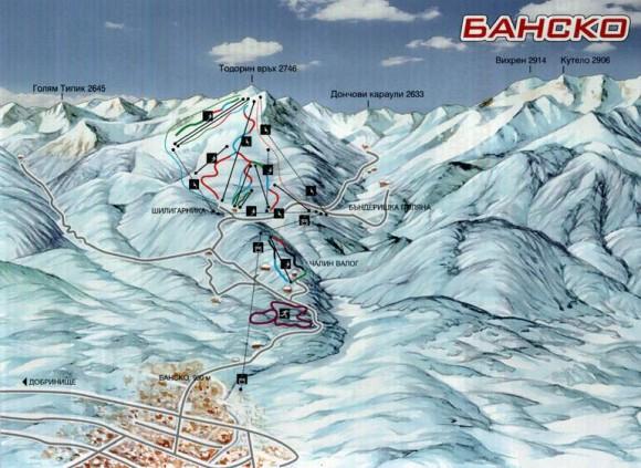 bansko-map-ski
