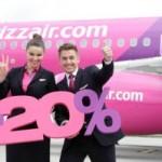 Акція Wizz Air: сьогодні – знижка 20% для членів Wizz-клубу