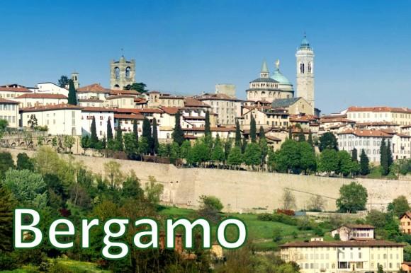 """Бергамо - не надто """"розкручене"""" для """"руссо турісто"""", і, мабуть, саме тому особливо приємне для відвідання місто в регіоні Ломбардія. Батьківщина бергамоту й Труффальдіно, це невелике колоритне місто, що потопає в зелені з видом на Альпи, - одне з чотирьох міст Італії, які мають середньовічний центр у фортеці на високому пагорбі. У Чітта Альта (""""Старе місто"""") можна піднятись на фунікулері, згадати про забуту романтику і закохатися в Бергамо назавжди."""