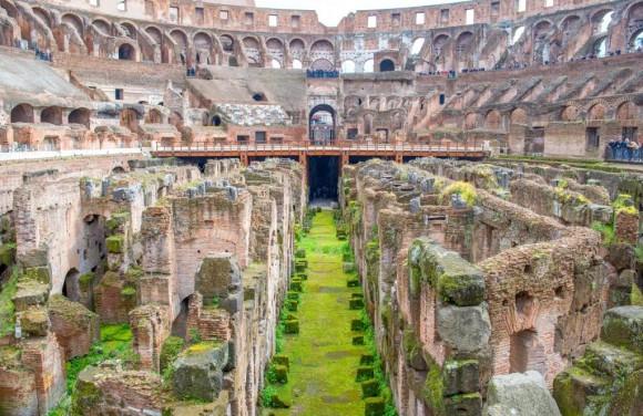 Colosseum   s arena fl...