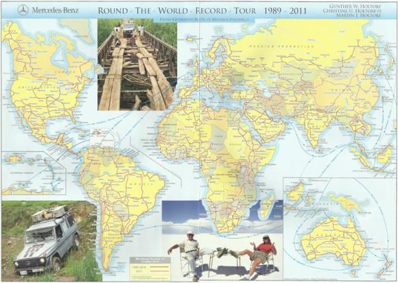 Карта подорожей Голторфа станом на першу половину 2011 року