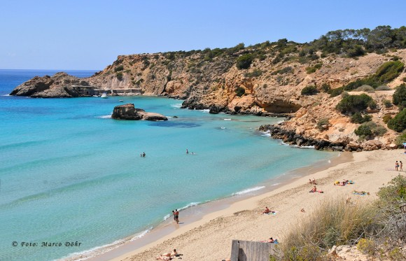 Cala Tarida on Ibiza's west coast where 29-year-old Dimitrina Dimitrova fell to her death