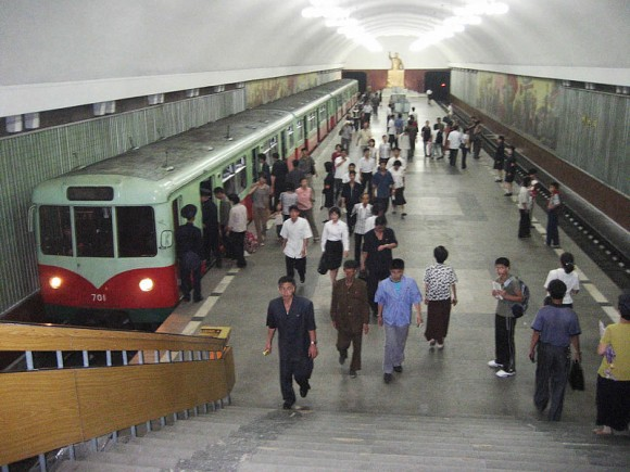 "Метро Пхеньяна, станция ""Кэсон"""