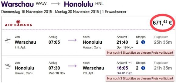 Warsaw-Honolulu